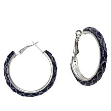 Patricia Nash Carlotta Braided Leather Hoop Earrings