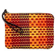 Patricia Nash Cassini Ribbon and Raffia Wristlet