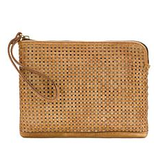 Patricia Nash Cassini Woven Leather Wristlet
