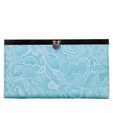 Patricia Nash Cauchy White Waxed Tooled Leather Wallet