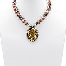 "Patricia Nash Cavo 20"" Double-Row Beaded Tooling Drop Necklace"