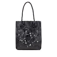 Patricia Nash Cavo Tooled Leather Cutout Tote