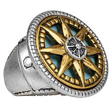 Patricia Nash Colored Compass Adjustable Ring