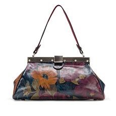 Patricia Nash Ferrara Peruvian Painting Leather Frame Satchel