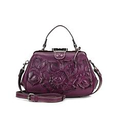 Patricia Nash Gracchi Tooled Leather Frame Satchel