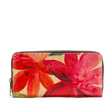 Patricia Nash Lauria Leather Zip-Around Wallet with RFID Technology