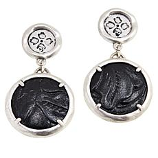 Patricia Nash Leather Charm Drop Earrings