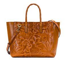 Patricia Nash Milliana Floral Deboss Leather Tote