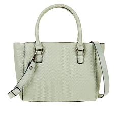 512494c54ce Patricia Nash Mozia Twisted Woven-Embossed Leather Tote