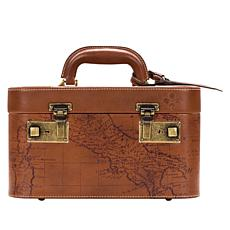 Patricia Nash Paradiso Leather Map Train Case
