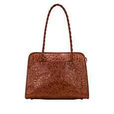 Patricia Nash Paris Large Leather Satchel