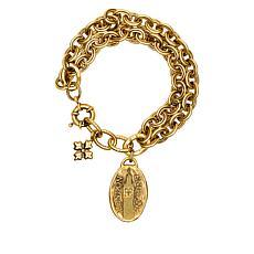 "Patricia Nash  Romantic Travel London 8-1/2"" Double-Row Bracelet"