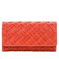 Patricia Nash Terresa Braided Stitch Leather Wallet