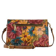 Patricia Nash Turati Leather Fresco Bouquet Crossbody Bag