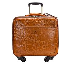 "Patricia Nash Vellino Leather 16"" Wheeled Trolley Bag"