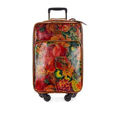 Patricia Nash Vettore Printed Leather Wheeled Trolley Bag