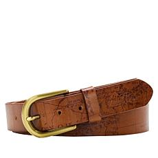 Patricia Nash Vietri Leather Map Belt