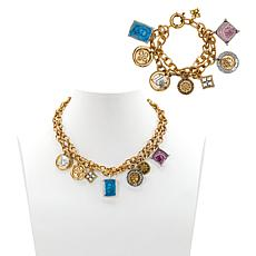 Patricia Nash World Charm 2-piece Necklace and Bracelet Set