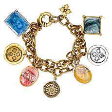 """Patricia Nash World Stamp 7-1/2"""" Dangle Bracelet"""