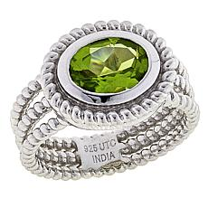 Paul Deasy Gem 1.5ct Oval Arizona Peridot Textured Ring
