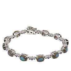 Paul Deasy Gem Sterling Silver Labradorite and Tanzanite Bracelet