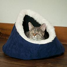 PAW Feline Cat Comfort Cavern Pet Bed - Blue