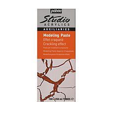 Pebeo Studio Acrylics Crackling Effect Modeling Paste 2-Tube Kit