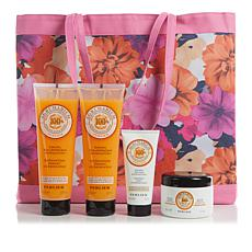 Perlier Agrumarium 4-piece Kit with Floral Tote