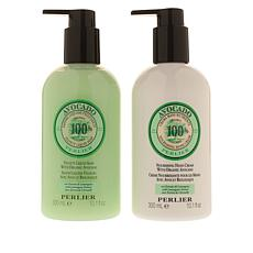 Perlier Avocado & Lemongrass Liquid Soap and Hand Cream Set