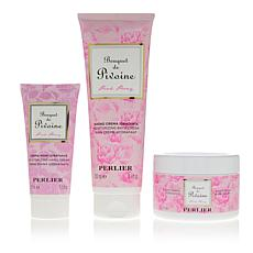 Perlier Bouquet of Pink Peony 3-piece Bath and Body Set