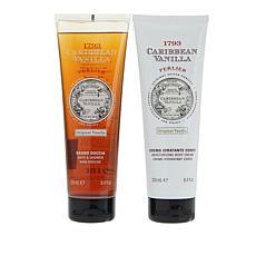 Perlier Caribbean Vanilla 2-piece Bath and Body Cream Set