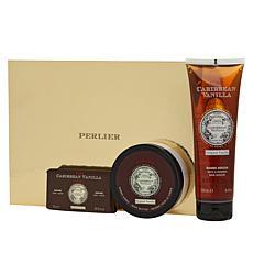 Perlier Caribbean Vanilla Bath and Body 3-piece Gift Set