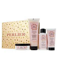 Perlier Honey Cherry Blossom 4-Piece Holiday Set