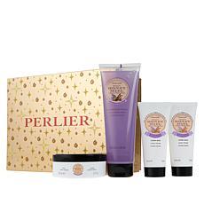 Perlier Honey Lavender and Sandalwood 4-Piece Holiday Set
