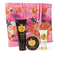Perlier Imperial Honey 3-piece Kit with Floral Tote