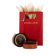 Perlier Shea Butter & Argan Oil 2pc Souffle for Face & Body with Bag