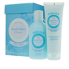 Perlier White Musk 2-piece Bath and Body Set