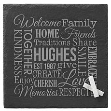 Personal Creations Personalized Family Word Art Slate Serving Board