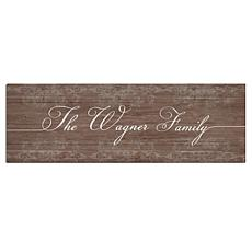 Personal Creations Personalized Rustic Scroll Family Canvas