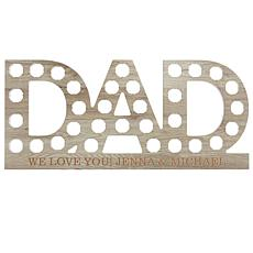 Personalized #1 DAD Bottle Cap Wall Display