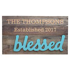 "Personalized ""Blessed Family"" Wood Pallet Wall Art"
