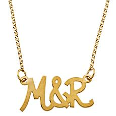 "Personalized Couples' Initials 18-1/4"" Rolo Necklace"