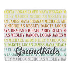"Personalized ""Family Names"" 50"" x 60"" Plush Blanket"