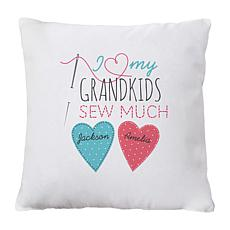 "Personalized ""Sew Much Love"" 15"" Square Throw Pillow"