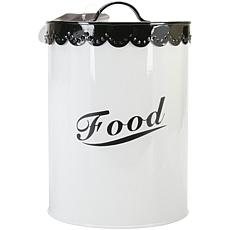 Pet Food and Treat Canister Set - Black