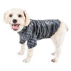Pet Life Active Warf Speed Heathered Ultra-Stretch Sporty Dog T-Shirt