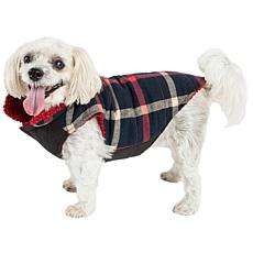 Pet Life Allegiance Classic Plaid Insulated Dog Coat