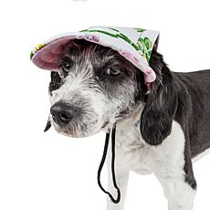 Pet Life Botanic Bark Floral Adjustable Fashion Dog Hat - Medium