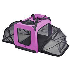 Pet Life Extra-Large Soft Folding Collapsible Expandable Pet Dog Crate