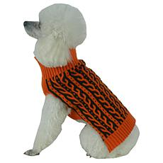 Pet Life Harmonious Dual Color Weave Heavy Cable Knit Dog Sweater